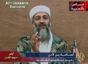 osama bin laden on al jazeera