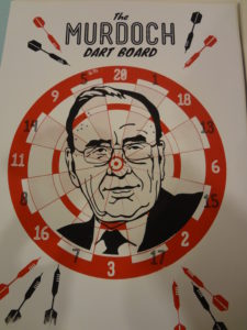 the murdoch dart board