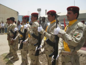 U.S.-Iraqi base transfer ceremony near Majaar Al Kabir