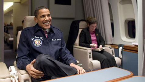 Study finds Obama's Extravagant Travel Costs Obama Air Force One Interior