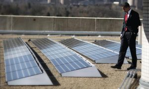 obama and solar power