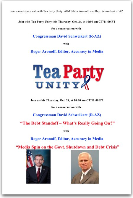 Join a conference call with Tea Party Unity