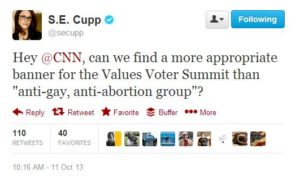 SE Cupp tweet on CNN banner