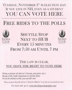 2008 Dartmouth University Sierra Club Poster (Courtesy Coalition of New Hampshire Taxpayers)