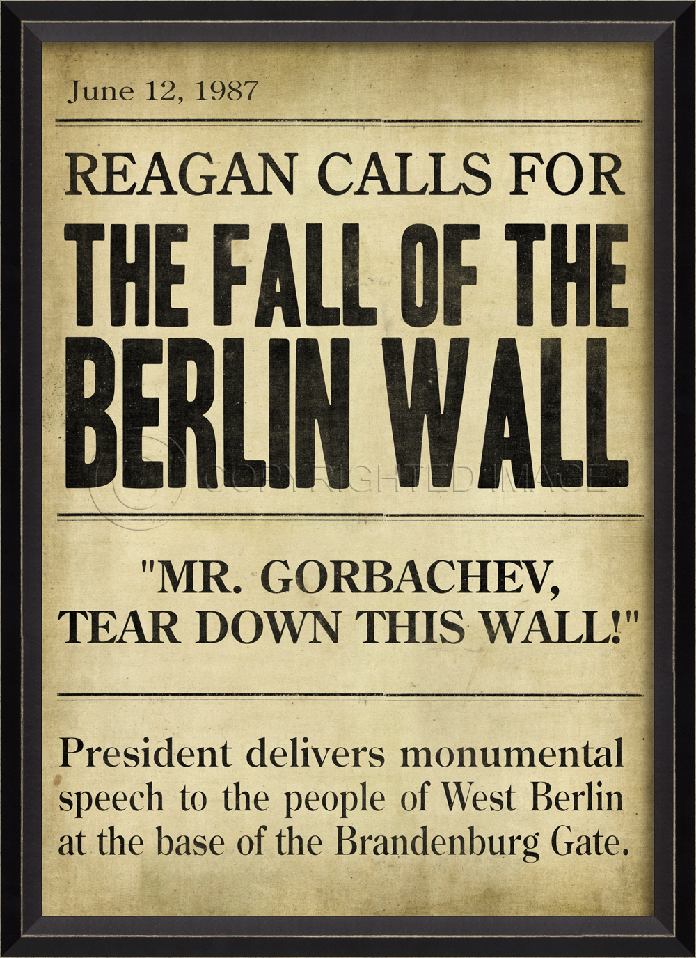 While Media Acknowledge the Fall of the Berlin Wall ...