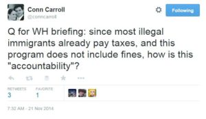 conn carroll amnesty taxes tweet
