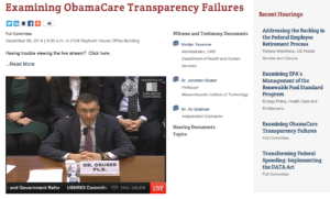 gruber oversight committee hearing