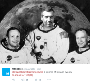 brian williams misremember photoshop astronaut