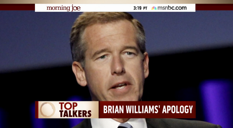 morning joe on brian williams lie