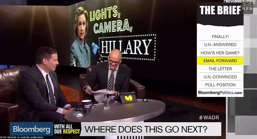 bloomberg tv on hillary e-mails