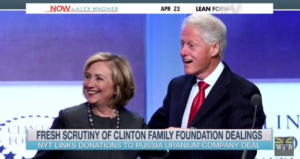 image screenshot of MSNBC video on Clinton Foundation