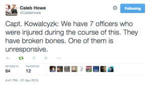 tweet baltimore cops injured