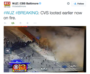 tweet cvs looted