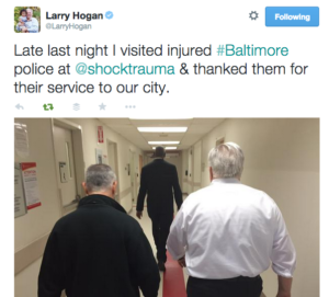 tweet gov hogan visits hospital