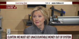 hillary clinton on big money