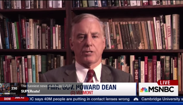 howard dean msnbc on hillary clinton ratings
