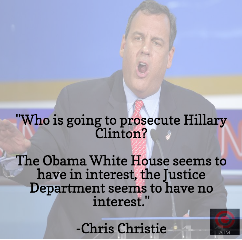 Chris Christie Hillary Clinton