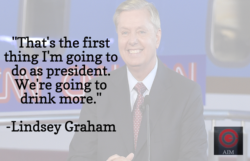 Lindsey Graham drink more