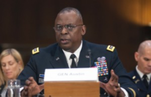 Lloyd Austin III, commander of U.S. Central Command, testifies at a Senate Committee on Armed Services hearing on Capitol Hill in Washington, D.C