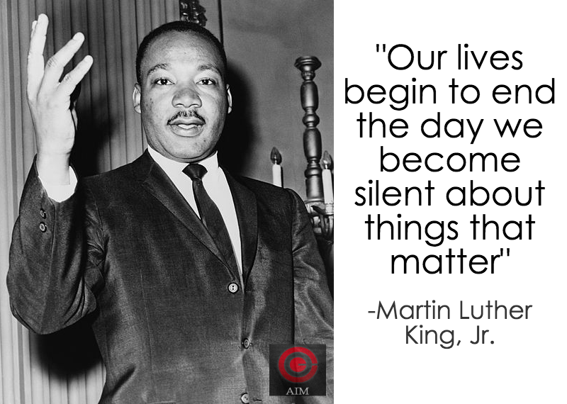 MLK Jr on Silence