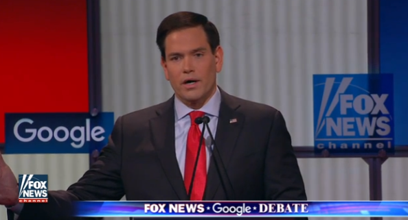 marco rubio fox news google gop debate