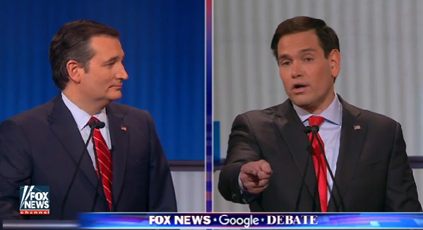 ted cruz vs marco rubio fox news google gop debate