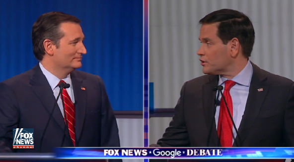 cruz vs rubio gop debate fox news google