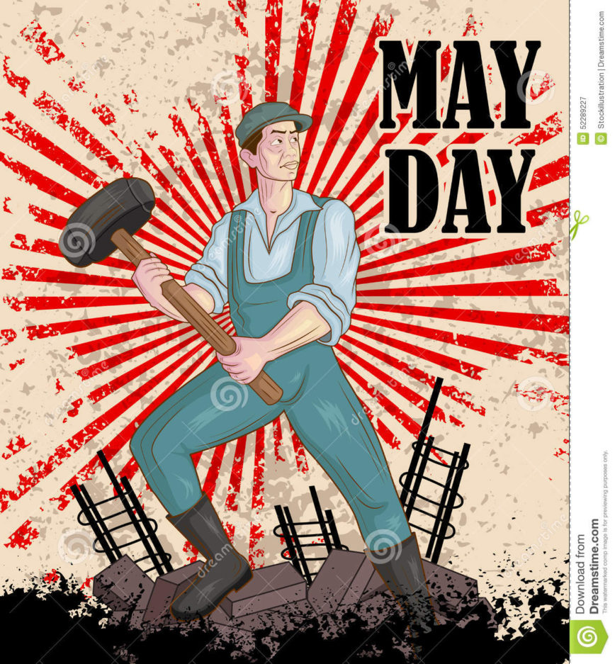 Happy May Day Celebration Vector Players Watch Grassroots