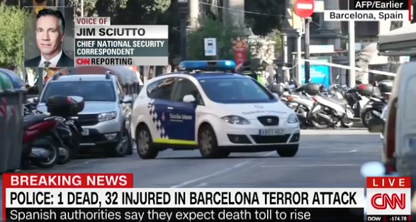 Wolf Blitzer makes the most weird comparison to the Barcelona attack