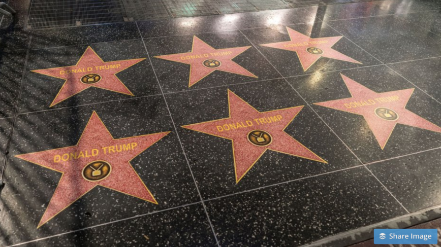 Donald Trump's Hollywood Walk of Fame Star Mysteriously Multiplies
